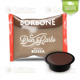 Borbone Don Carlo Red Blend - Box of 100 Coffee Capsules Compatible with Lavazza A Modo Mio Coffee Machine