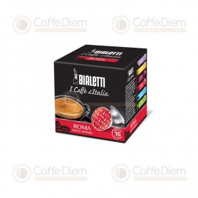 Original Bialetti Roma Box of 16 Coffee Capsules