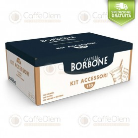 Accessory Kit with 150x Coffee Cups, Stirrers and Sugar Bags