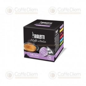 Original Bialetti Milano Box of 16 Coffee Capsules