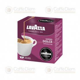 Lavazza A Modo Mio Lungo Dolce Long and Sweet Blend - Box of 16 Coffee Capsules