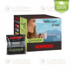 KIMBO INTENSO BLEND- BOX OF 100 ESE PAPER PODS 44mm