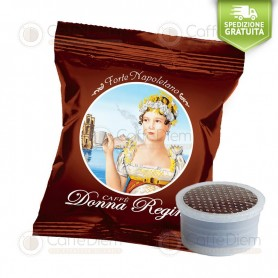 Donna Regina Forte Napoletano - Box of 100 Coffee Capsules Compatible with Lavazza Espresso Point Coffee Machine