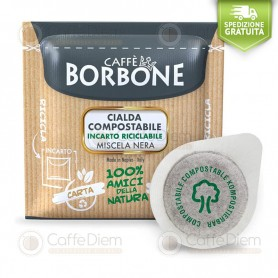 Borbone ESE Paper Pods 44 mm - 4 Box of 150 Black Blend Coffee Pods