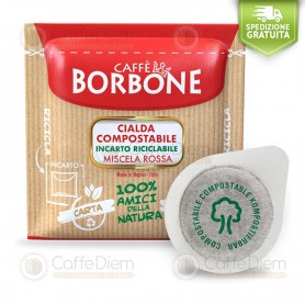 Borbone ESE Paper Pods 44 mm - Box of 150 RED Blend Coffee Pods