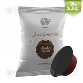 Caffè Lollo Classic Blend - Box of 100 Coffee Capsules Compatible with Lavazza A Modo Mio Coffee Machine
