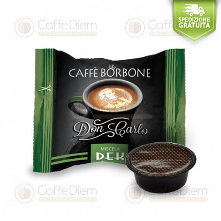 Borbone Don Carlo Decaff Blend - Box of 100 Coffee Capsules Compatible with Lavazza A Modo Mio Coffee Machine