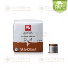 illy iperEspresso 18 Coffee Capsules Brazil 100% Arabica