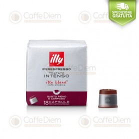 illy iperespresso 18 Coffee Capsules Dar Roast Black Box 100% Arabica