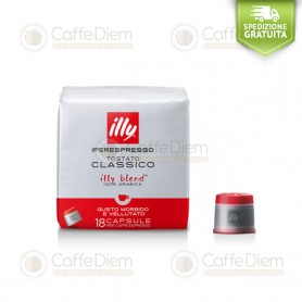 illy iperespresso 18 Coffee Capsules Medium Roast Red Box 100% Arabica