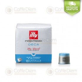 illy iperespresso 18 Coffee Capsules Decaffeinated Decaf Green Box 100% Arabica