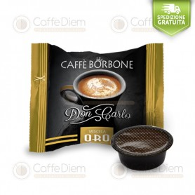 Borbone Don Carlo Gold Blend - Box of 100 Coffee Capsules Compatible with Lavazza A Modo Mio Coffee Machine