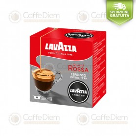 Lavazza A Modo Mio Qualità Rossa Italian Red Passion Box of 16 Coffee Capsules