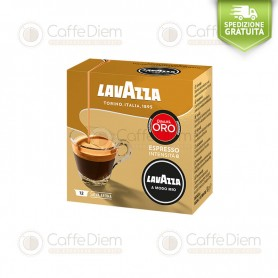 Lavazza A Modo Mio Qualità Oro Gold Quality Blend - Box of 12 Coffee Capsules