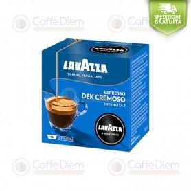 Lavazza A Modo Mio Dek Cremoso Creamy Deacaff - Box of 16 Coffee Capsules