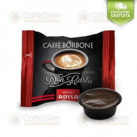 Borbone Don Carlo Red Blend - Box of 100 Coffee Capsules Compatible with Lavazza A Modo Mio Coffee Machine