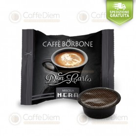 Borbone Don Carlo Black Blend - Box of 100 Coffee Capsules Compatible with Lavazza A Modo Mio Coffee Machine