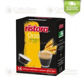 Ristora Barley Bio - Pack of 16 Capsules Compatible with Lavazza A Modo Mio Coffee Machine