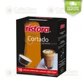 Ristora Cortado - Pack of 16 Capsules Compatible with Lavazza A Modo Mio Coffee Machine