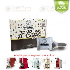 CAFFE' DIEM COFFEE-BOX OF 100 CAPSULES BIALETTI COMPATIBLE DECAFFEINATED BLEND
