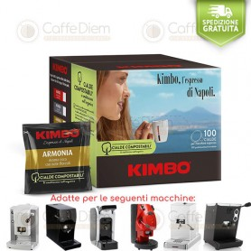 KIMBO ARABICA BLEND, BOX OF 100 PODS ese 44mm