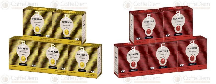 Bourbon Coffee Caps Compatibiles with Lavazza A Modo Mio | Caffè Diem